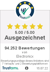 Trustami Vertrauenssiegel von Electronicx GmbH