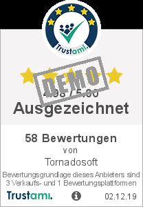 Trustami Vertrauenssiegel Box von Tornadosoft