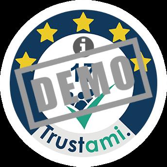 Trustami Vertrauenssiegel (Mini) von Dampfer-affe.de