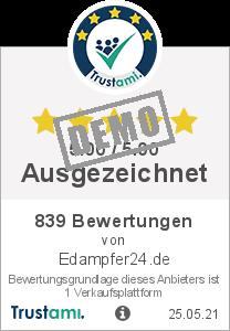 Trustami Vertrauenssiegel von Hide company name