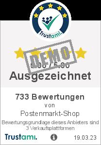Trustami Vertrauenssiegel Box von Postenmarkt-Shop