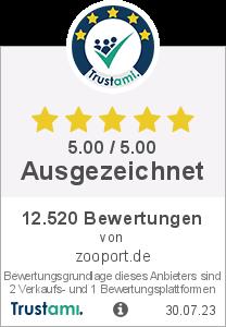 Trustami Vertrauenssiegel Box von zooport.de