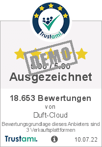 Trustami Vertrauenssiegel Box von Duft-Cloud