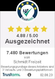 Trustami Vertrauenssiegel von Schmidt Freizeit